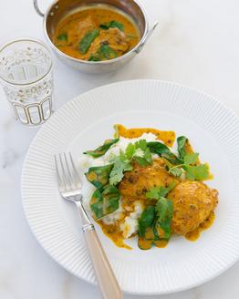 Chicken Tikka Curry with Cauliflower Mash