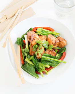 Thermomix Ginger Salmon Stir-fry
