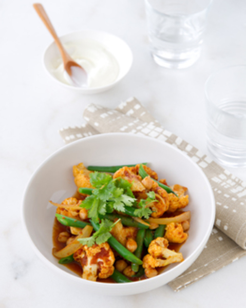 Thermomix Chickpea & Cauliflower Curry