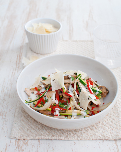 Creamy Chicken & Mushroom Boscaiola