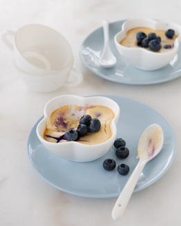 Thermomix Crustless Blueberry Cheesecake