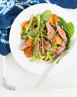 Lemony Lentil Salad with Lamb