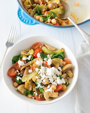 Mushroom & Chickpea Stir-Fry