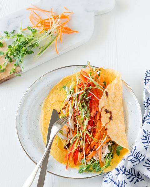 Asian Chicken Omelette