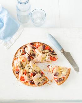 Turkey & Mushroom Pizza