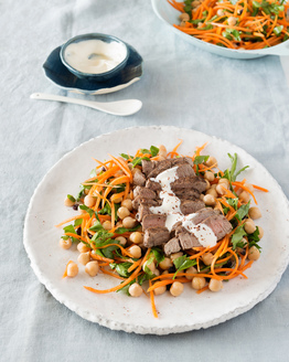 Lamb with Moroccan Carrot Salad
