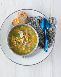 Spring Pea & Corn Soup