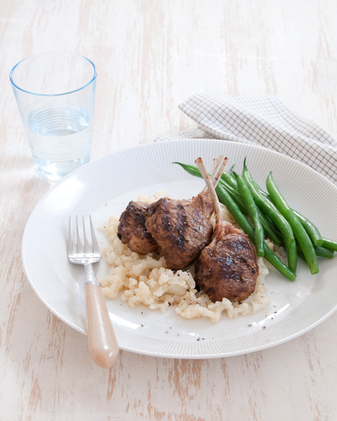 Lamb Cutlets with Cauliflower Mash & Beans