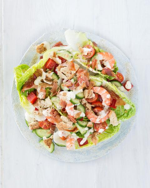 Prawn Salad with Crunchy Crumbs