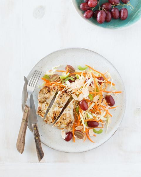 Pork with Grape & Cabbage Salad