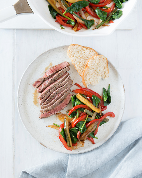 Steak with Peperonata