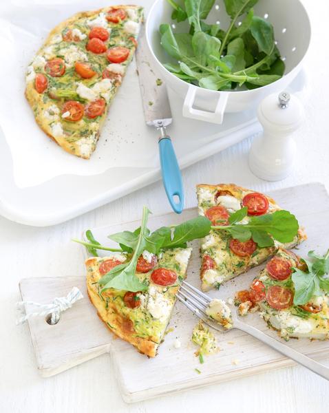 Low FODMAP Zucchini & Herb Frittata