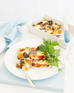 Low FODMAP Roasted Vegetable Frittata