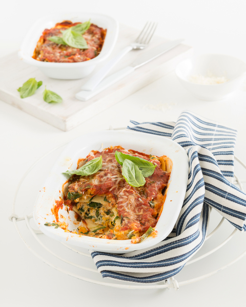 Low FODMAP Chicken, Pumpkin & Spinach Lasagne