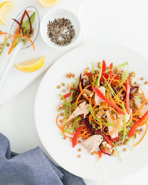 Low FODMAP Rainbow Vegetable Salad