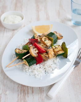 Low FODMAP Greek Vegie Skewers