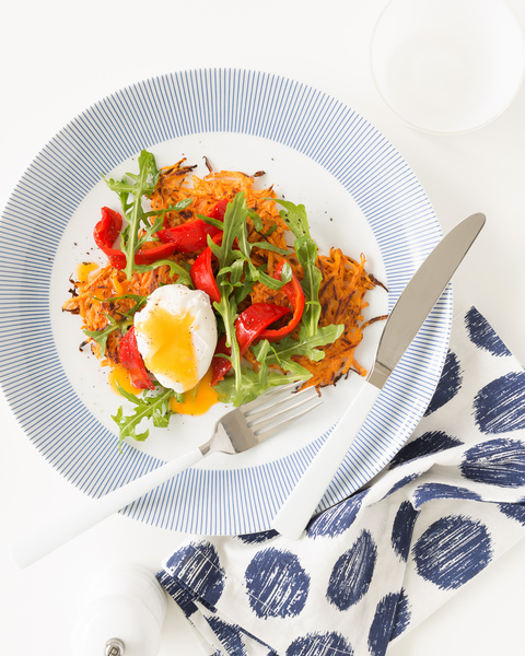 Low FODMAP Potato Rosti with Poached Egg