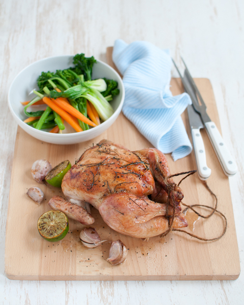 Roast Chicken with Mixed Asian Vegetables