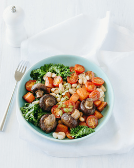 Roasted Mushrooms with Soy Sweet Potato