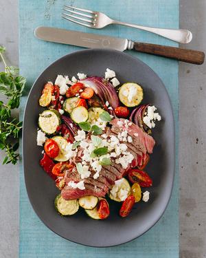 Warm Mediterranean Beef Salad
