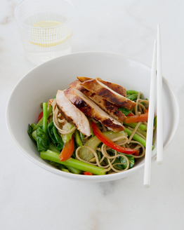Family Teriyaki Chicken & Vegetable Stir-fry with Noodles