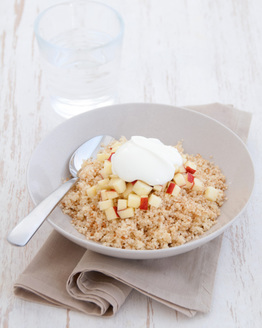 Apple Couscous with Cinnamon & Yoghurt