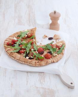 Tomato, Feta & Olive Pizza