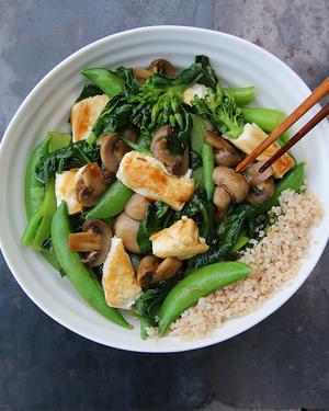 Family Tofu & Greens Stir-fry