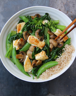 Family Tofu & Greens Stir-fry