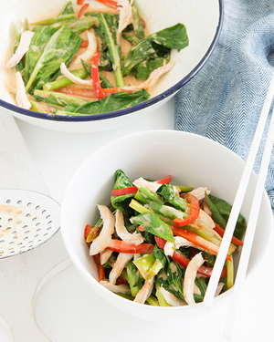 Family Poached Ginger Chicken with Spicy Vegetables