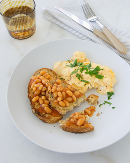 Scrambled Eggs with Baked Beans