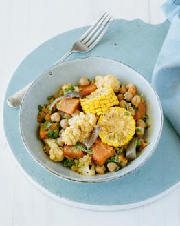 Chickpea, Sweetcorn & Sweet Potato Casserole
