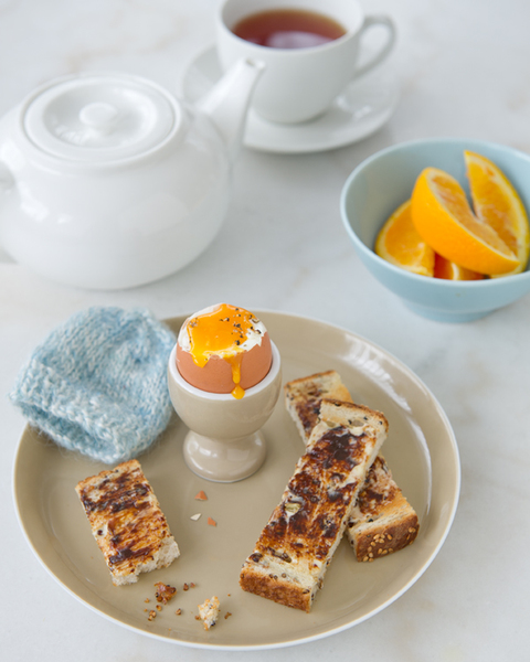 Boiled Eggs with Vegemite Soldiers