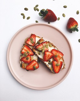 Strawberries & Cream Toast Topper