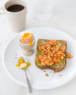 Egg with Avocado Toast & Baked Beans