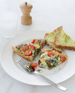 Breakfast Frittata with Avocado Toast