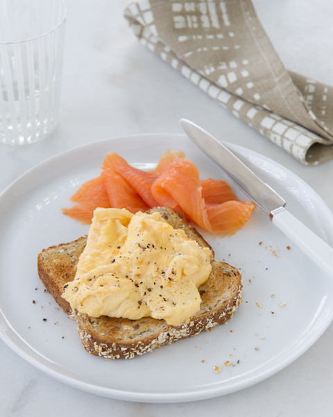 Scrambled Eggs with Smoked Salmon
