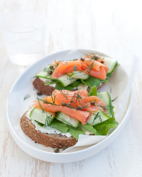 Smoked Salmon & Caper Open Sandwich