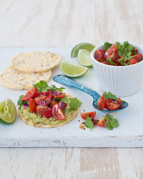 Corn Thins with Mexican Tomato Salsa