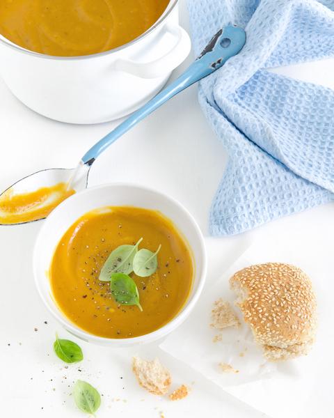 Roast Pumpkin & Garlic Soup