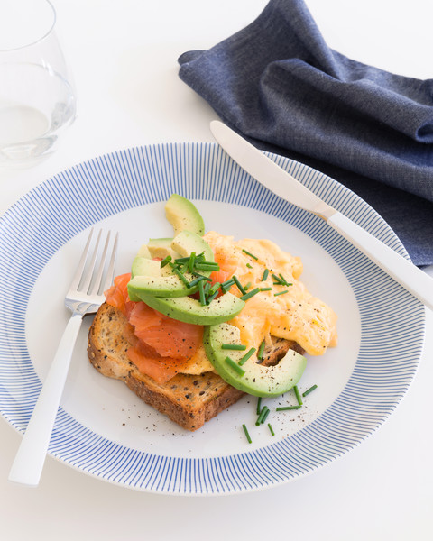 Scrambled Eggs with Smoked Salmon & Avocado