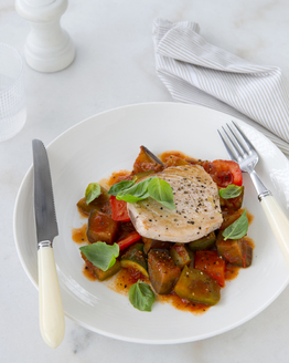 Pan-fried Fish with Ratatouille & Basil