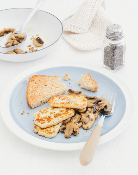 Garlic & Mushroom Haloumi