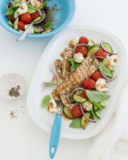 Fish with Italian Salad