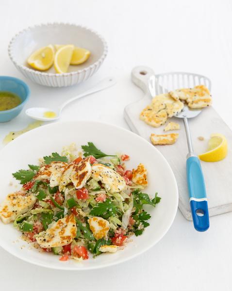 Warm Haloumi & Tabouli Salad
