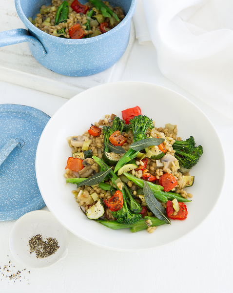Roast Vegetable & Barley Risotto