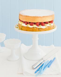 Passionfruit, Ricotta & Raspberry Sponge Cake