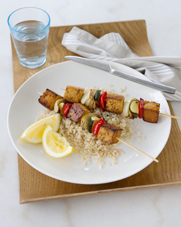 Grilled Tofu & Vegetable Skewers
