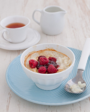 Rice Pudding with Raspberry Jam