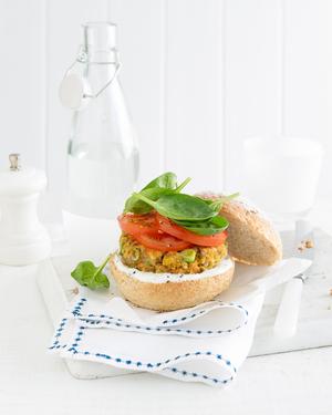 Roast Pumpkin & Lentil Vegie Burger